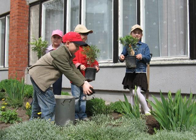 Stādām jaunus augus kopā ar bērniem